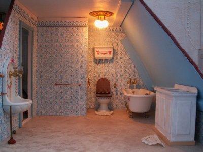 Badkamer Voor Poppenhuis : Bol goki houten poppenhuis kasteel badkamer delig goki